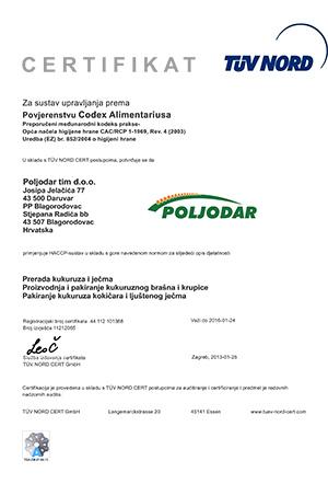 Certifikat HACCP